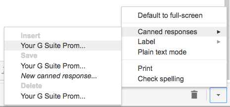 Insert, Save or Delete Gmail Templates