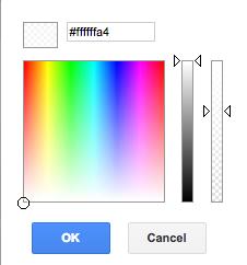 Google Slides Translucent Color Selection
