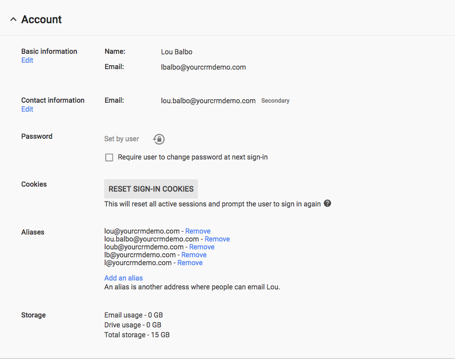 Google Workspace User Email Aliases