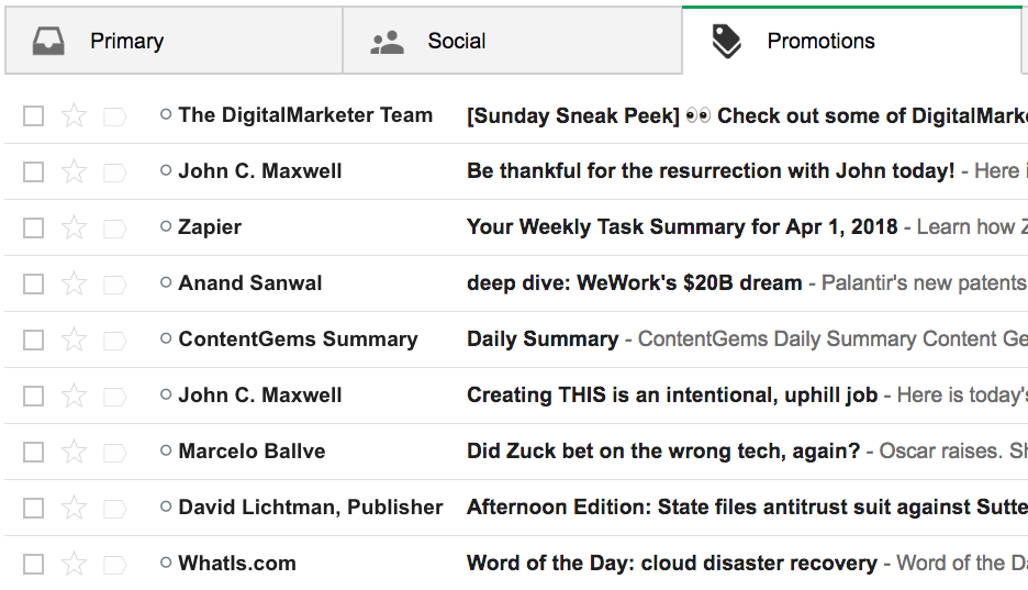 Gmail Promotions Tab